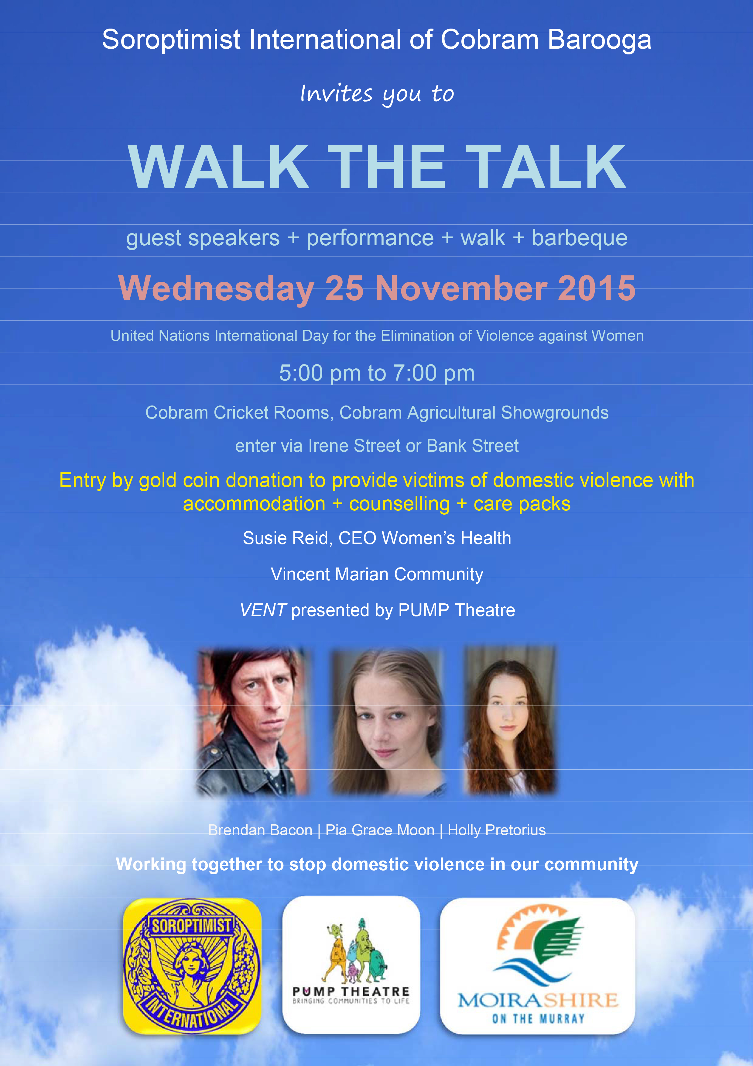 Walk the talk - November 2015 - Pump Theatre